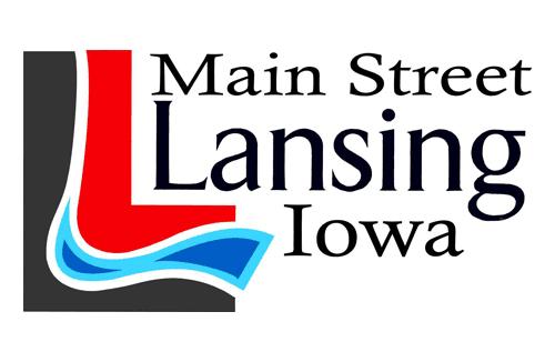 Main Street Lansing Iowa Logo
